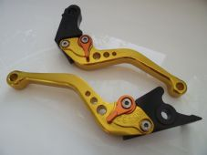 Honda CBR250 2011-2013, CNC levers short gold alloy & orange adjuster F25/H626
